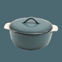 Vas cuptor, capac, ceramica, 2.17L, gri