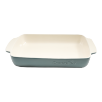 Vas cuptor, ceramica, dreptunghiular, 5.3L, gri