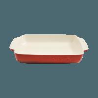 Vas cuptor, ceramica, dreptunghiular, 5.3L, rosu