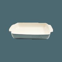 Vas cuptor, ceramica, dreptunghiular, 3.8L, gri