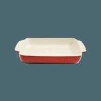 Vas cuptor, ceramica, dreptunghiular, 3.8L, rosu
