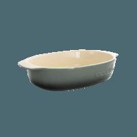 Vas cuptor, ceramica, oval, 2.7L, gri